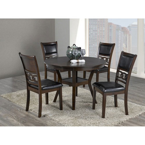 Tristan Contemporary 5 Piece Dining Set Espresso Dining Sets