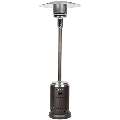 Paramount Freestanding Propane Patio Heater - 46,000 BTU - Mocha/Stainless Steel