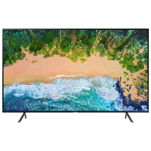 "Samsung NU7100 65"" 4K UHD HDR LED Tizen Smart TV (UN65NU7100FXZC)"
