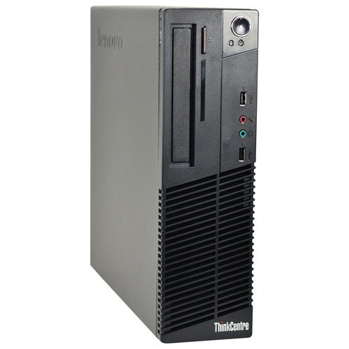 Lenovo ThinkCentre M73 Desktop PC (Intel Core i3-4130/500GB HDD/4GB RAM/Windows 10) - English-Refurb