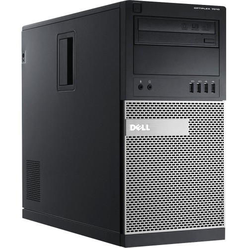 DELL 7010 Tower I5 3470 3.2GHz, 8GB RAM, 1TB HDD, DVD, Windows 10 Pro - Refurbished