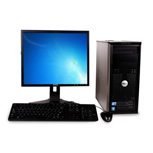 """DELL Optiplex GX380 DT Core 2 DuoE7400 2.8, 4GB, 160GB, DVD, Win10Pro with 19"""" LCD Monitor - Refurbished"""