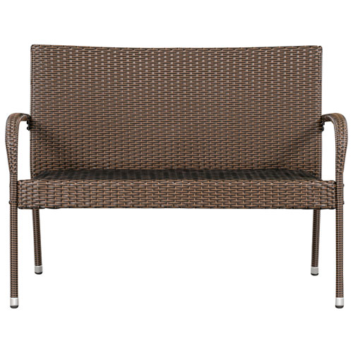 Hanna Traditional Wicker Patio Bench   Brown : Patio Chairs U0026 Seating    Best Buy Canada