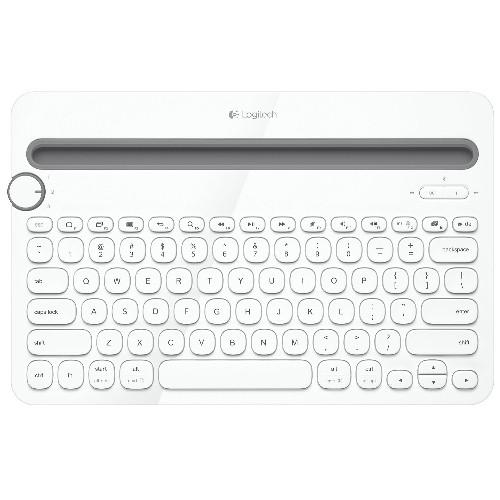 Logitech K480 Bluetooth Multi-Device Keyboard (920-006343)- White- Open Box