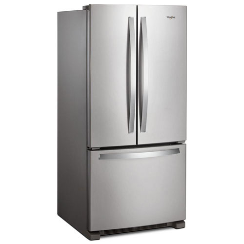 """Whirlpool 33"""" French Door Refrigerator (WRF532SNHZ) - Stainless Steel - Open Box - Scratch & Dent"""