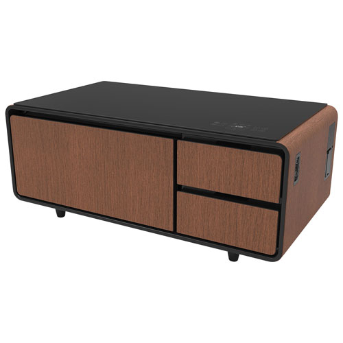various colors 11087 c18bf Sobro Smart Coffee Table with Refrigerated Drawer - Wood