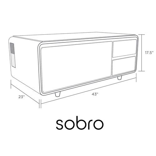 Avec Table Sobro Tiroir Bois De Réfrigéré Basse Intelligente uXZikP