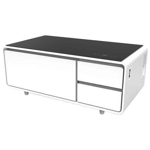 Table Basse Intelligente Avec Tiroir Refrigere De Sobro Blanc