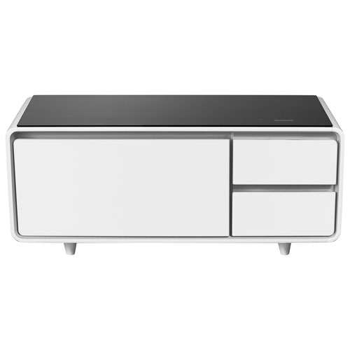 Sobro Smart Coffee Table With Refrigerated Drawer White