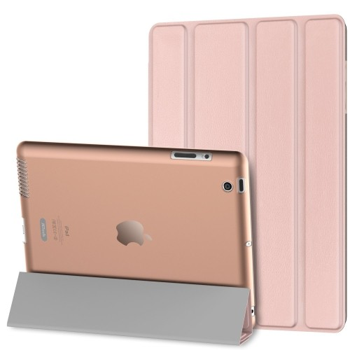 JETech iPad 2 / 3 / 4 Case Slim-Fit Case Cover for Apple iPad 2/3/4 w/Auto Sleep/Wake (Rose Gold) - 0219D