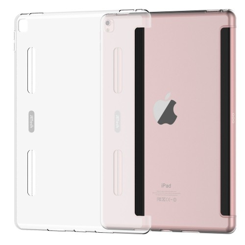"""iPad Pro 9.7 Case, JETech Frosted Translucent Slim Bumper Protector Cover for Apple iPad Pro 9.7"""" Tablet (Clear) - 3379J"""