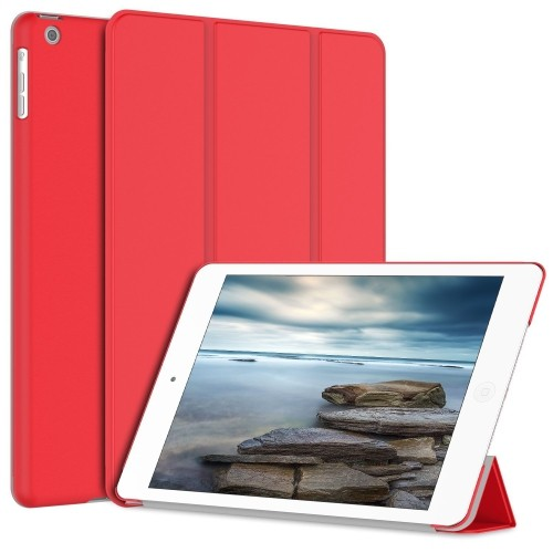 JETech Gold Serial iPad Air Slim-Fit Case Cover for Apple iPad Air iPad 5 with Auto Sleep/Wake Feature (iPad Air, Red)