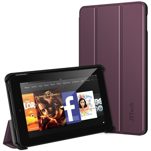 Fire 7 Case, JETech Protective Standing Case Cover for Amazon Fire 7 Tablet (2015 Released 5th Generation) (Purple)