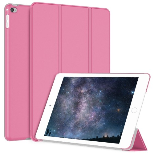 JETech Gold Serial 2nd Edition Slim-Fit Folio Auto Sleep/Wake Case for Apple Mini 1/2/3 - Pink