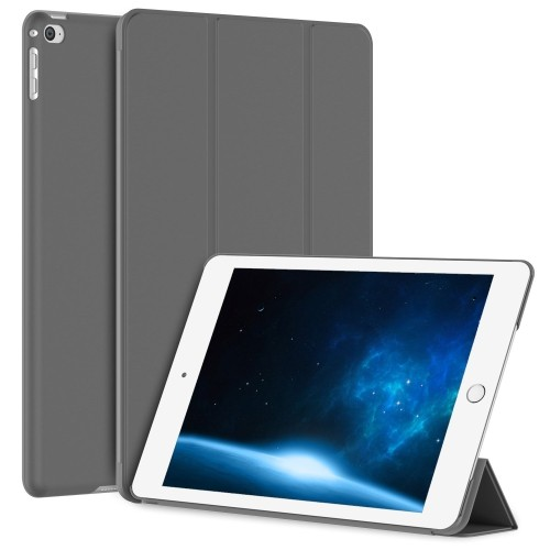 iPad Air 2 Case, JETech® iPad Air 2 Slim-Fit Case Cover, Lightweight Stand with Cover Auto Wake/Sleep (Dark Grey)