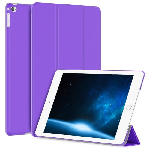 JETech iPad Air 2 Slim-Fit Case Cover (iPad 6) 2014 Model Ultra Slim Lightweight Stand with Cover Auto Wake/Sleep (Purple)