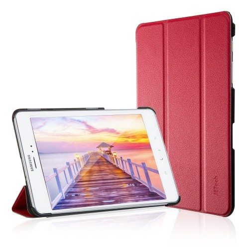 Galaxy Tab A 8.0 Case 2015 edition, JETech® Gold Slim-Fit Case with Auto Sleep/Wake Feature (Red)