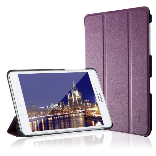 Galaxy Tab A 8.0 Case 2015 edition, JETech® Gold Slim-Fit Case with Auto Sleep/Wake Feature (Purple)