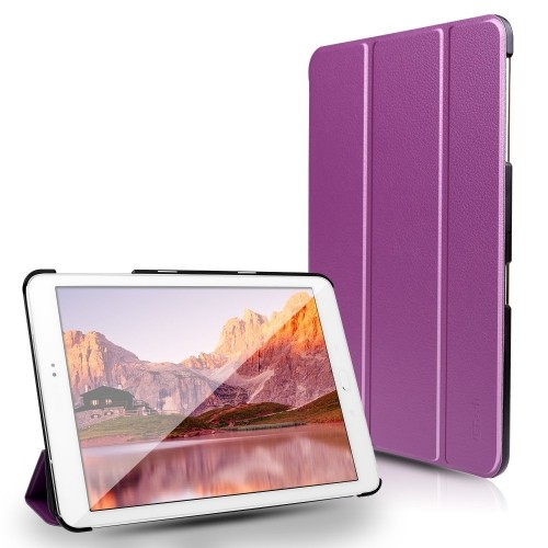 Tab S2 8.0 Case, JETech® Gold Slim-Fit Case Cover for Samsung Galaxy with Auto Sleep/Wake Feature (Purple)