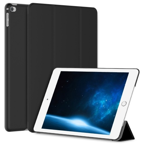 JETech iPad Air 2 Slim-Fit Case Cover (iPad 6) 2014 Model Ultra Slim Lightweight Stand with Cover Auto Wake/Sleep (Black)