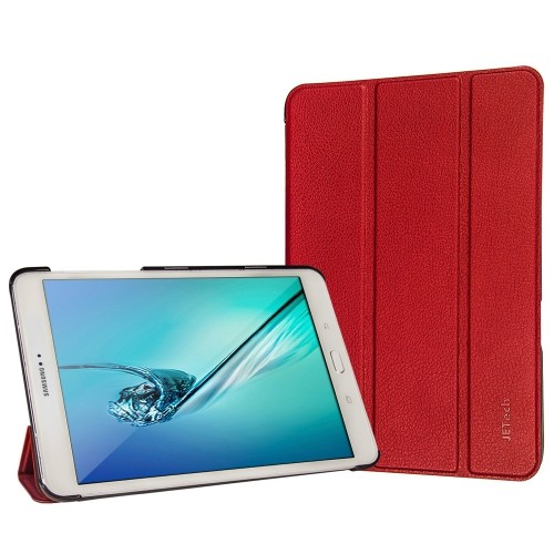 Samsung Galaxy Tab S2 9.7 Case, JETech® Gold Slim-Fit Case with Auto Sleep/Wake Feature (Red)