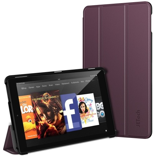 """Fire HD 10 Case, JETech Standing Cover with Auto Sleep/Wake for Amazon Fire 10.1"""" HD Display 5th 2015 Release (Purple) -3412C"""
