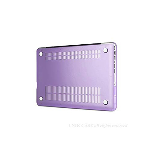 "UNIK CASE-Frosted Coating Rubberized Hard Case for Macbook Pro 13/""-Purple"