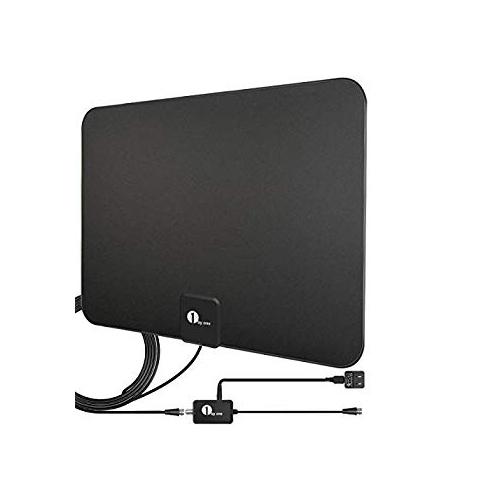 25 Miles Range Flat HD 1080P Digital Indoor Ultra-thin TV Antenna 10FT Black USA