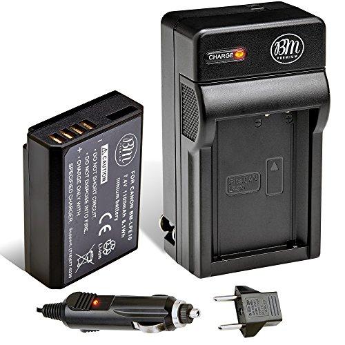 BM Premium LP E10 Battery And Charger Kit For Canon EOS Rebel T3 T5 T6 Kiss X50 X70 1100D 1200D 1300D