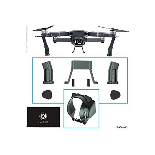Landing Gear and Sun Hood for DJI Mavic Pro - Leg Extensions for Extra  Height and Safety - Gives Your DJI Drone More Ground Cl