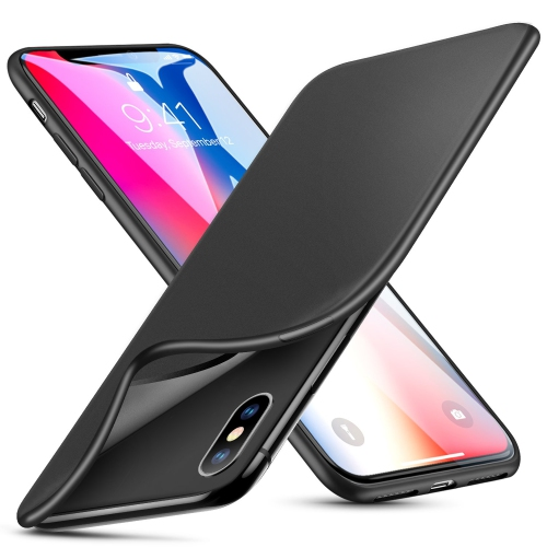 best service 760b8 c676c ESR Case Compatible for iPhone X XS Slim Solid Soft TPU Cover [Support  Wireless Charging] for iPhone X iPhone Xs 5.8 inch (So