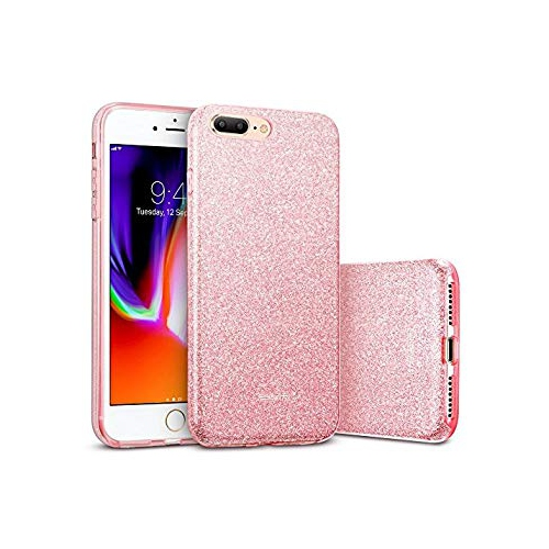 360d5e9cad3 iPhone 8 Plus Case iPhone 7 Plus Case ESR  Makeup Series  Sparkle Bling  Shinning Back Shell Skin  Three Layer Design with So - Online Only