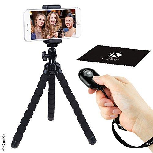 WINGOMART Flexible Cell Phone Tripod w/ Bluetooth Remote Control Camera Shutter
