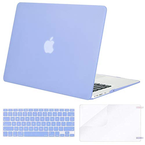 new product 564b0 d11bd Mosiso Plastic Hard Case with Keyboard Cover with Screen Protector for  MacBook Air 13 inch (Model: A1369 and A1466) Serenity