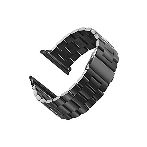 f4af0e84aa9 LNKOO Stainless Steel Metal Clasp Watchbands Replacement Wrist Strap  Classic Buckle Polishing Watch Bands Compatible for