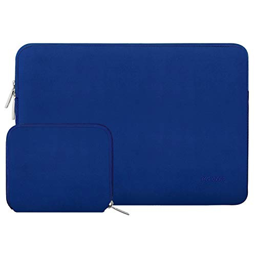 Mosiso Water Repellent Lycra Sleeve Bag Cover for 13-13.3 Inch Laptop with Small Case for MacBook Charger, Royal Blue