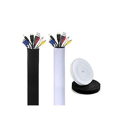 AGPTEK Neoprene Cable Sleeves for TV Computer Management Sleeves ...