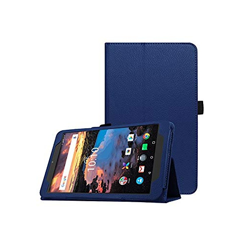 Alcatel A30 8.0 Tablet Case - AVIDET High Quality Slim-Book Stand PU Leather Case Cover for Alcatel A30 8.0 Tablet (Blue)