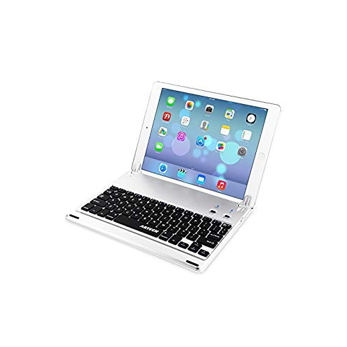Arteck Ultra-Thin Apple iPad Air 2 9.7-inch iPad Pro Bluetooth Keyboard Folio Case Cover with Built-In Stand Groove for Apple