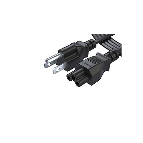 Pwr UL Listed NEMA 5-15P to IEC320C5 3 Prong AC Wall Cord Plug Cable for AC  Adapter Power Supply Cord Laptop Charger For Dell