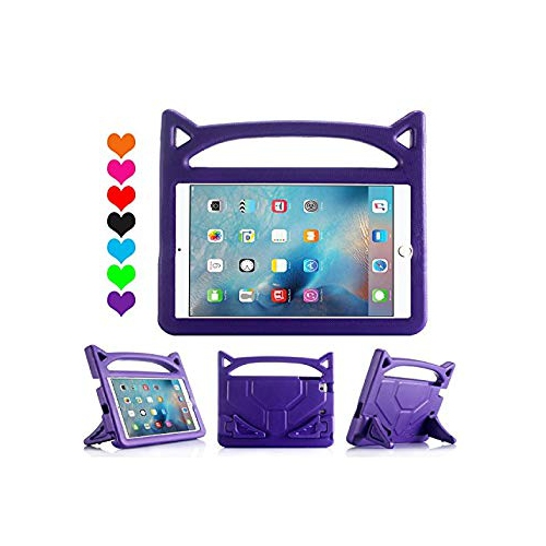 iPad MiNi 4 Case,iPad MiNi 4 Kiddie Case-Grand Sky-Shockproof Case Light Weight Kids Case Super Protection Cover Handle Stand