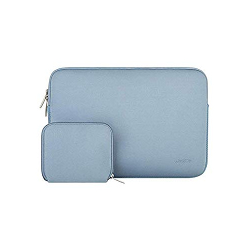 Mosiso Water Repellent Lycra Sleeve Bag Cover for 15-15.6 Inch MacBook Pro, Notebook Computer with Small Case, Airy Blue
