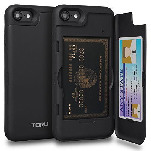 Toru Cx Pro Iphone 8 Wallet Case With Hidden Id Slot Credit Card Holder Hard Cover Mirror For Iphone 8 Iphone 7 Matte Bl Best Buy Canada
