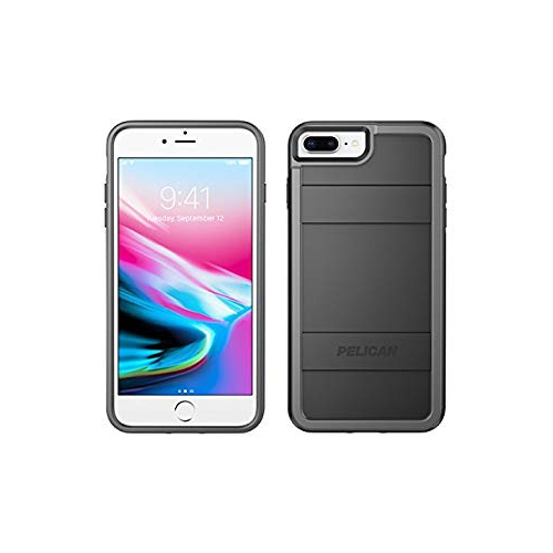 Pelican Iphone Case Fits Iphone 8 Plus Iphone 7 Plus Iphone 6s Plus Iphone 6 Plus Black Light Gray Best Buy Canada