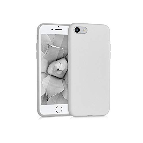 b0c261cfeb0 kwmobile TPU Silicone Case Apple iPhone 7 8 - Soft Flexible Shock Absorbent  Protective Phone Cover - Light Grey Matte