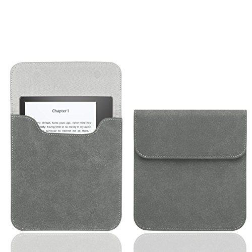 WALNEW 7' Kindle Sleeve for Kindle Oasis 2017 Protective Insert Sleeve Case Bag (Kindle Oasis 2017, Gray)