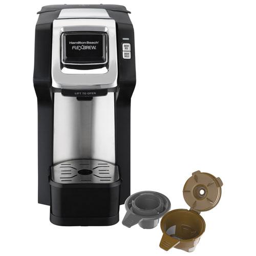 Hamilton Beach Flexbrew Single Serve Coffee Maker Blackstainless