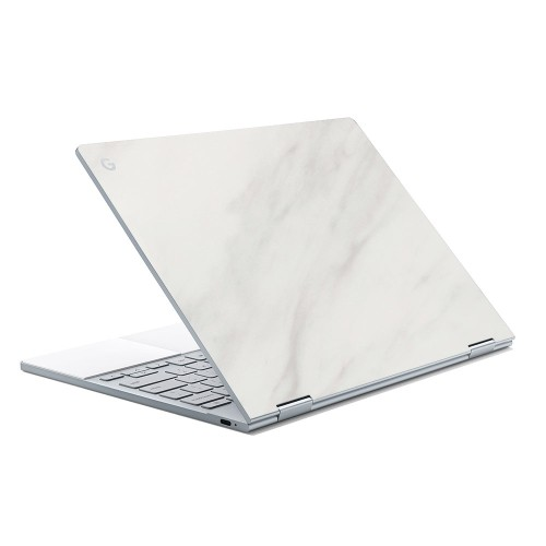 7 Layer Skinz Custom Skin Wrap for Google Pixelbook (White Marble)
