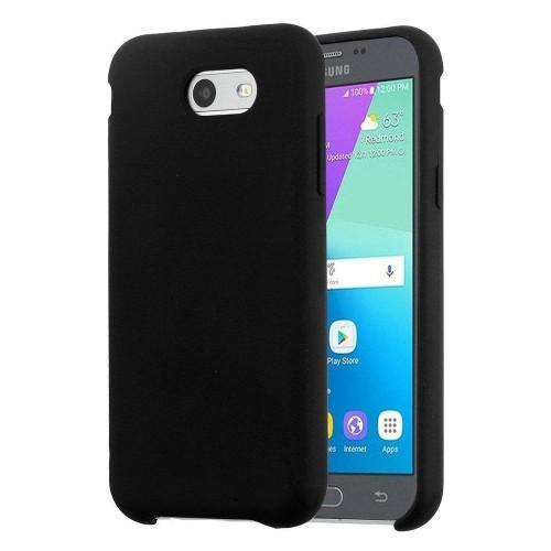 Insten Silicone Coated Hard Case For Samsung Galaxy J3 (2017)/J3 Luna Pro/J3 Mission, Black