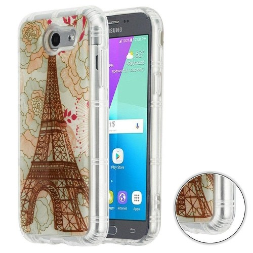 Insten Krystal Gel Eiffel Tower Hard Case For Samsung Galaxy J3 (2017)/J3 Eclipse/J3 Emerge